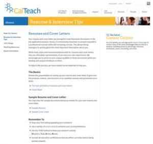 Resume & Interview Tips - UC Berkeley